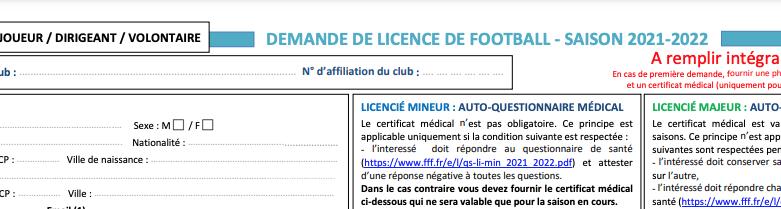 Obtenir une licence au FC Gouesnou en 2021/2022